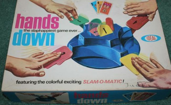 Vintage 1960 S Board Game Hands Down When I Was Young