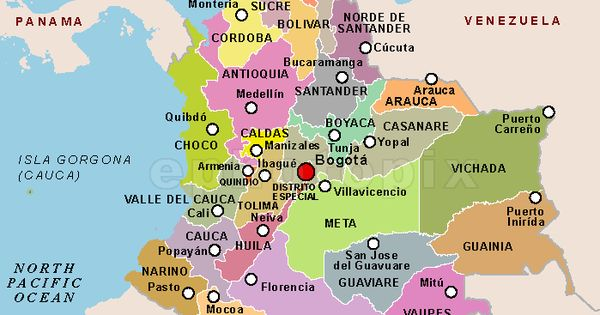 Colombia Departments Map Fabulous Places to Visit