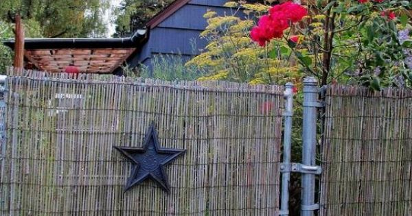 DIY  Beautify a Chain Link Fence With Bamboo  Chain link fencing