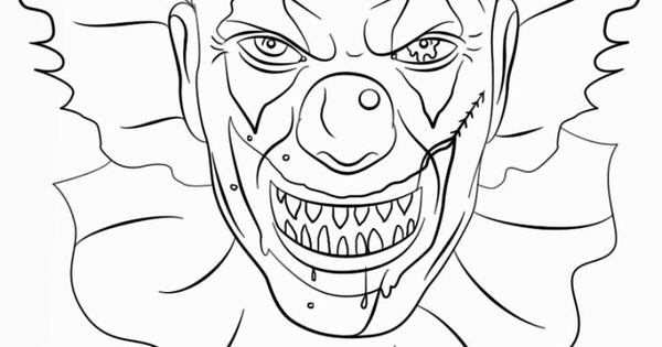 How To Draw Scary Clowns Step 8