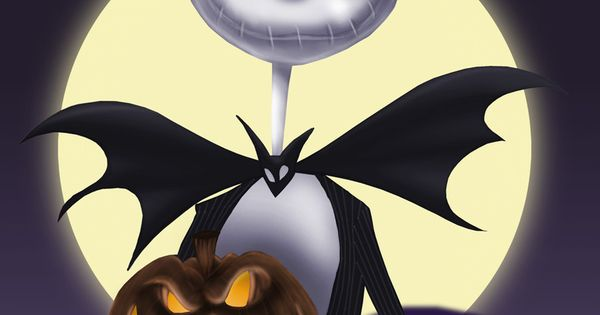 Pumpkin Fall Wallpaper Jack Skellington Holding A Pumpkin With The Moon Watching