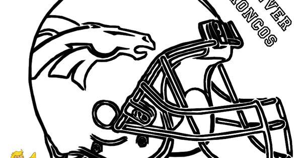 Fired Up Football Coloring! Denver Broncos Helmet!