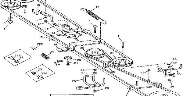 John Deere Stx46 Wiring Diagram John Deere Stx38 Drive Belt Diagram Mower Belts Pinterest