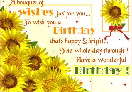 Sunflowers Cards Happy Birthday Sunflowers