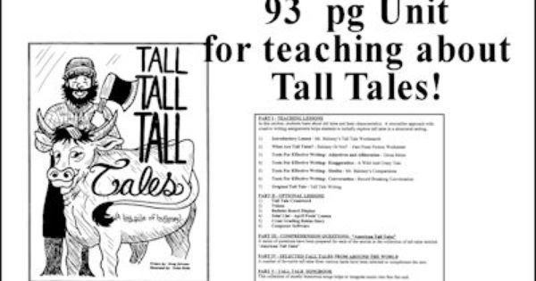 Teaching about Tall Tales download #homeschool #literature