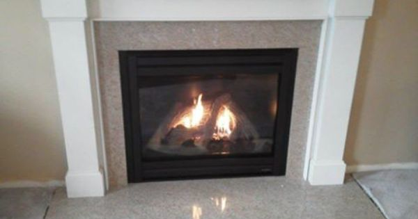 Heat N Glow Gas Fireplace with Kenwood Mantle and Granite Surround  Heat N Glow Fireplaces
