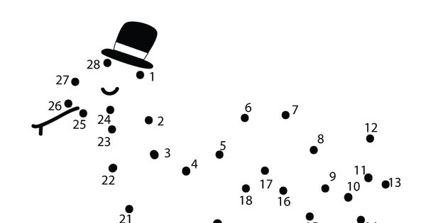 Preschoolers can connect the dots to make a snake in this