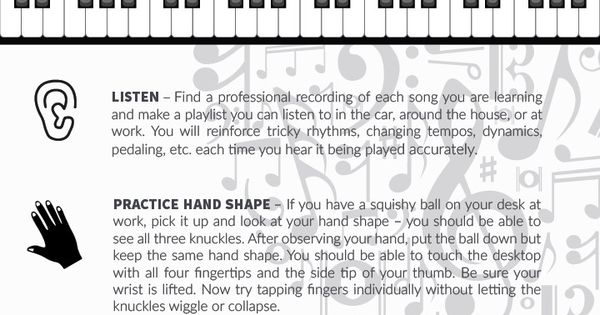 How to Practice Piano: Tips for Exercises OFF the Keys