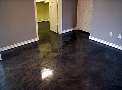 Kemiko Black Stain Original Artistic Design In Decorative Concrete Floors Opts Pinterest