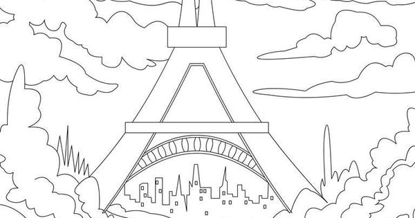 Eiffel tower tracable- coloring page for the youtube