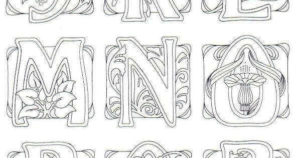 Art Nouveau- art journal idea: illustrate an alphabet