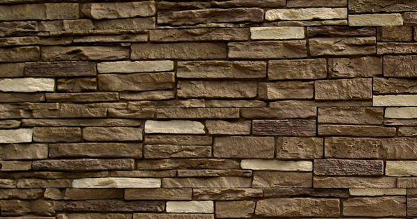 Shop NextStone Brunswick Brown Slatestone Faux Stone Veneer Panels At Basement Den