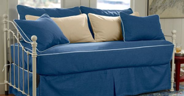Washable Piped Fitted Slipcover Daybed Set 149 comes in