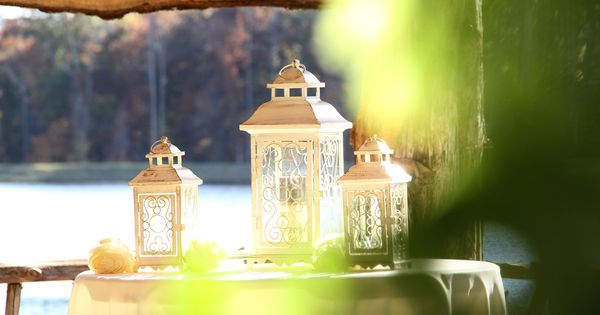 Outdoor Unity Candle Idea Lanterns To Protect The Flame