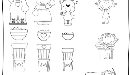 Little Bird Kindergarten: The Three Bears and Listen up