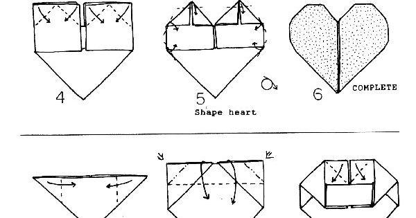 origami shoes diagram