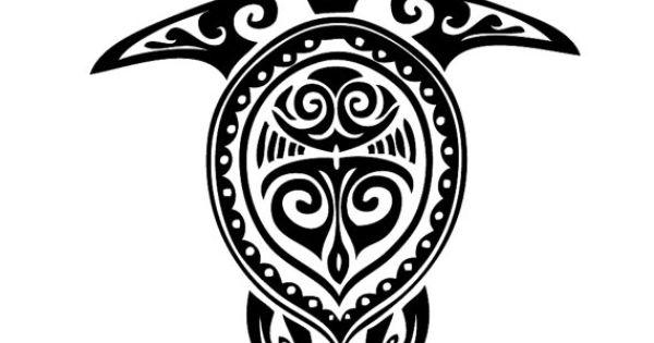 Tribal Turtle Hawaiian Wall Decal Laptop Decal by