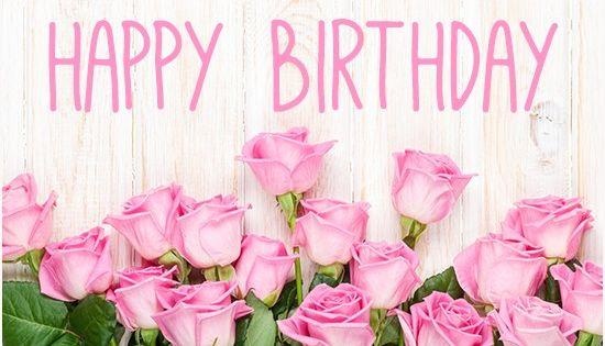 Happy Birthday Pink Rose Graphic BIRTHDAY WISHES COLLECTION Pinterest Happy Birthday Pink