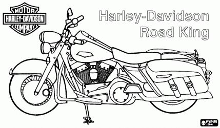 Harley-Davidson Road King. Harley Motorcycle coloring page