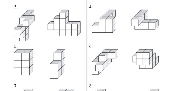 Building Connecting Cube Structures (B) Math Worksheet #