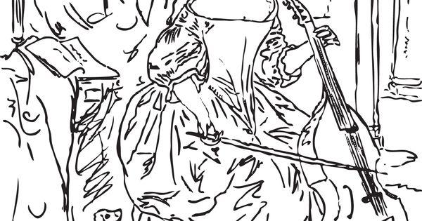 Woman-Playing-the-Viola-da-Gamba-by-Gabriel-Metsu-coloring