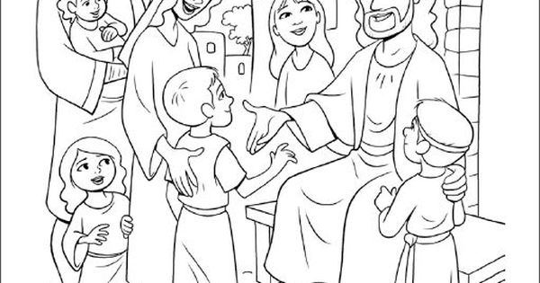 Jesus Blesses the Little Children / #coloring #pages #