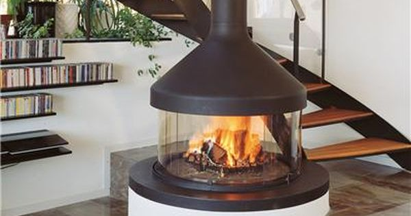 open middle of room wood stove circular  Our House Is A