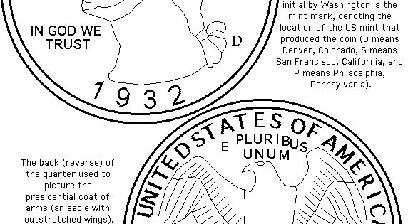 Half Dollar Coin Coloring Page http://www