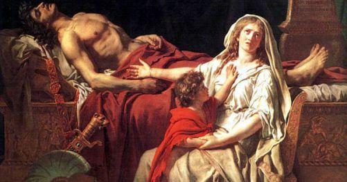 Resultado de imagen de andromache mourning hector jacques louis david