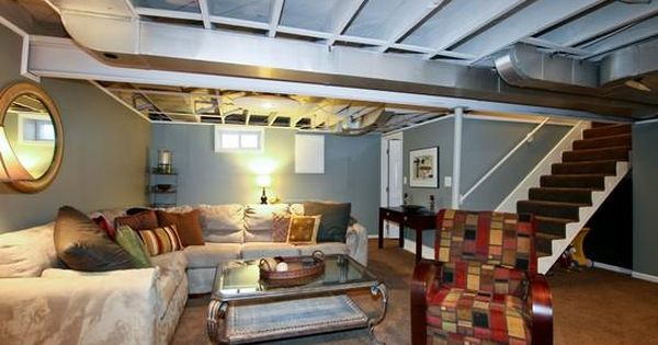 Try painting basement ceiling instead of ceiling tiles or drywall  DIY Unfinished Basement