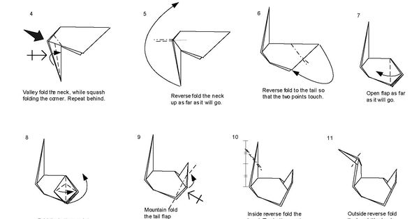 Origami Swan Prison Break Instructions