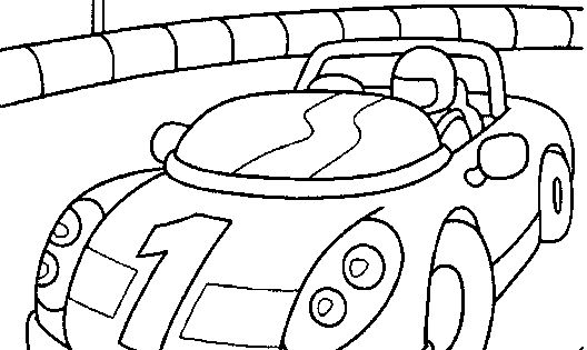 printable coloring pages...Race Car driver in a race car