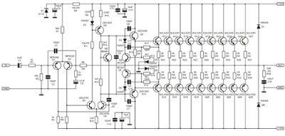 1000 Watt Amplifier APEX 2SC5200 2SA1943 , 1000W power