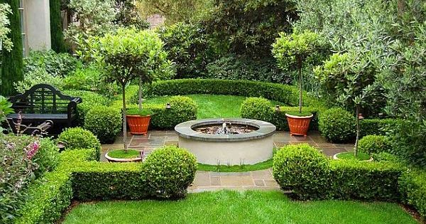 elegant yard feature clean