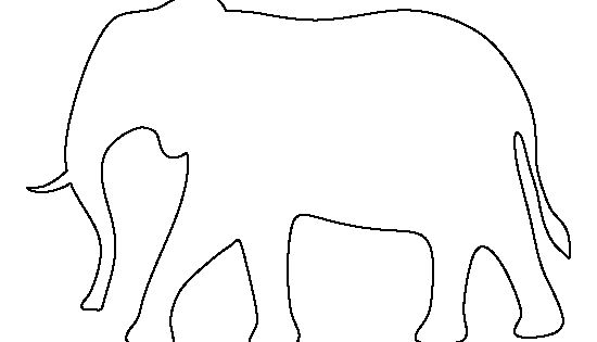 Elephant pattern. Use the printable outline for crafts