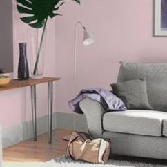 Living Room Design Ideas Grey Couch Choosing Curtains For Dulux Pretty Pink - Matt Emulsion Paint 2.5l | ...