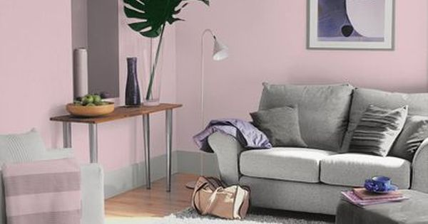 living room interior design ideas uk to decorate your walls dulux pretty pink - matt emulsion paint 2.5l | ...