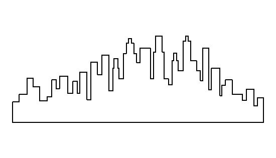 Skyline pattern. Use the printable outline for crafts