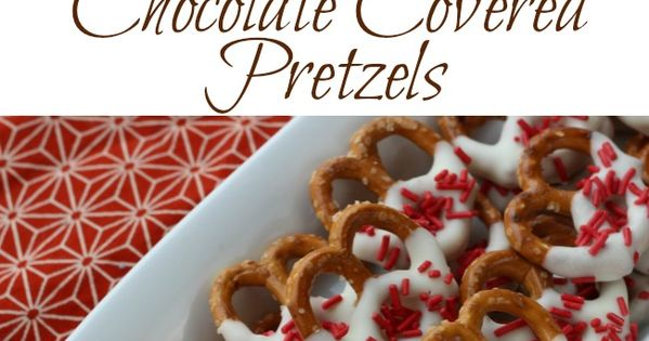 Canada Day Dessert Idea Chocolate Covered Pretzels