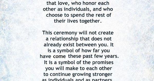 My NonReligious Short and Sweet Wedding Ceremony Script par 1 wedding vows weddings wedding