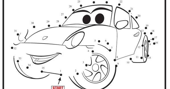 Cars 2 Movie Dot to Dot printable : Printables for Kids