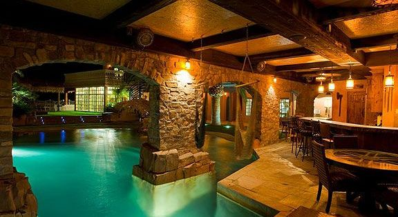 Indoor  outdoor pool  jardin  Pinterest  Search Caves and Awesome