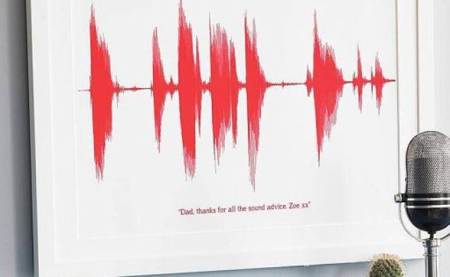 Personalised Sound Print Voice Song Heart Beat Wall Art