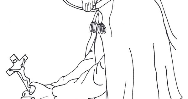 Coloring page in honor of St. Charles Borromeo. All