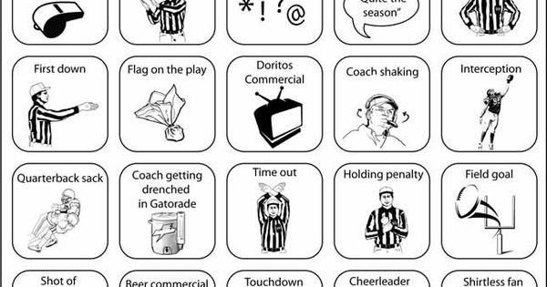 Printable Super Bowl Bingo cards to keep you interested in