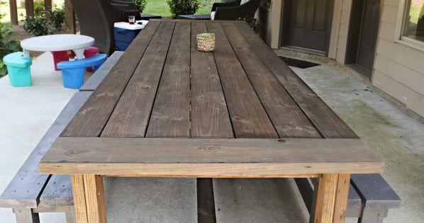 Extra Long DIY Outdoor Table Diy Outdoor Table Outdoor Tables And Backyard