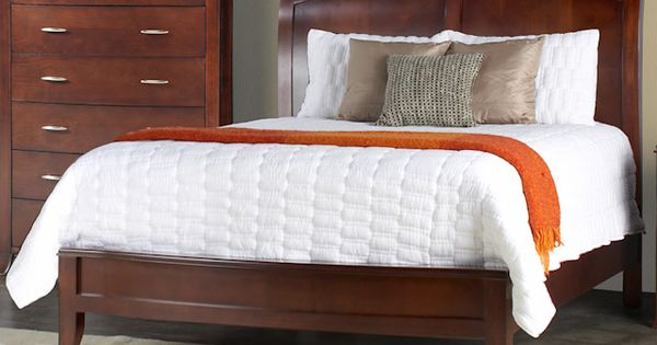 Brighton Cinnamon Queen Low Profile Sleigh Bed Bernie And Phyls Home Decorating Ideas Pinterest Beds