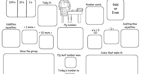 Place Value activities: FREE Monthly Graphic Organizers