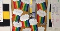 rainbow classroom door decor by justmelaura   Classroom ...