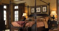 Tuscan Old World four poster bedroom set | Tuscan style ...